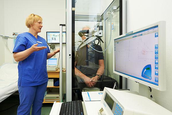 Lungenfunktionstest in der Funktionsdiagnostik am Diako